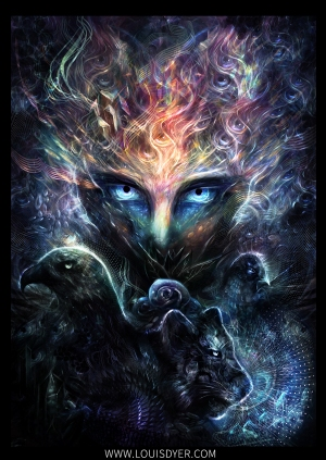 Digital visionary art by Louis Dyer
